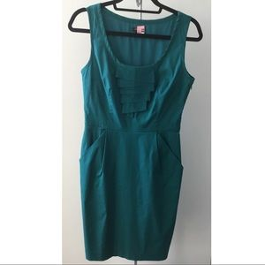 Emerald green sleeveless mini dress Ann Taylor